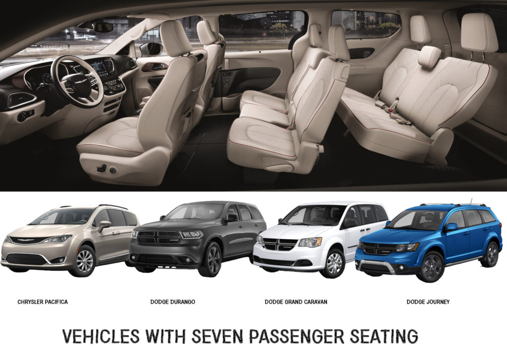 7 Passenger Seating Vehicles Dodge And Chrysler